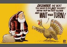 Thanksgiving got runover by a reindeer