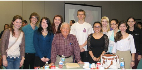 Holocaust survivors share lunch and stories with West Milford High School students