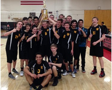 New Boy's Volleyball team off to a great start