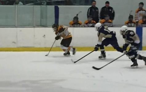 Senior Highlander Hockey Team puts up a great fight