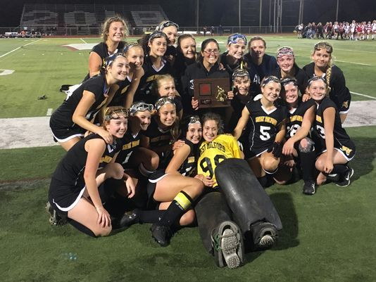 West Milford Field Hockey team celebrates back-to- back County Championship victories!  Photo courtesy: www.northjersey.com