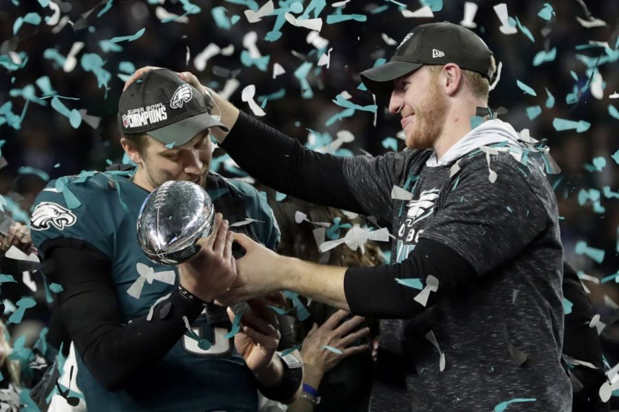 Above%3A+Nick+Foles+and+Carson+Wentz+holding+the+Lombardi+Trophy+Photo+Courtesy%3A+Yahoo.com