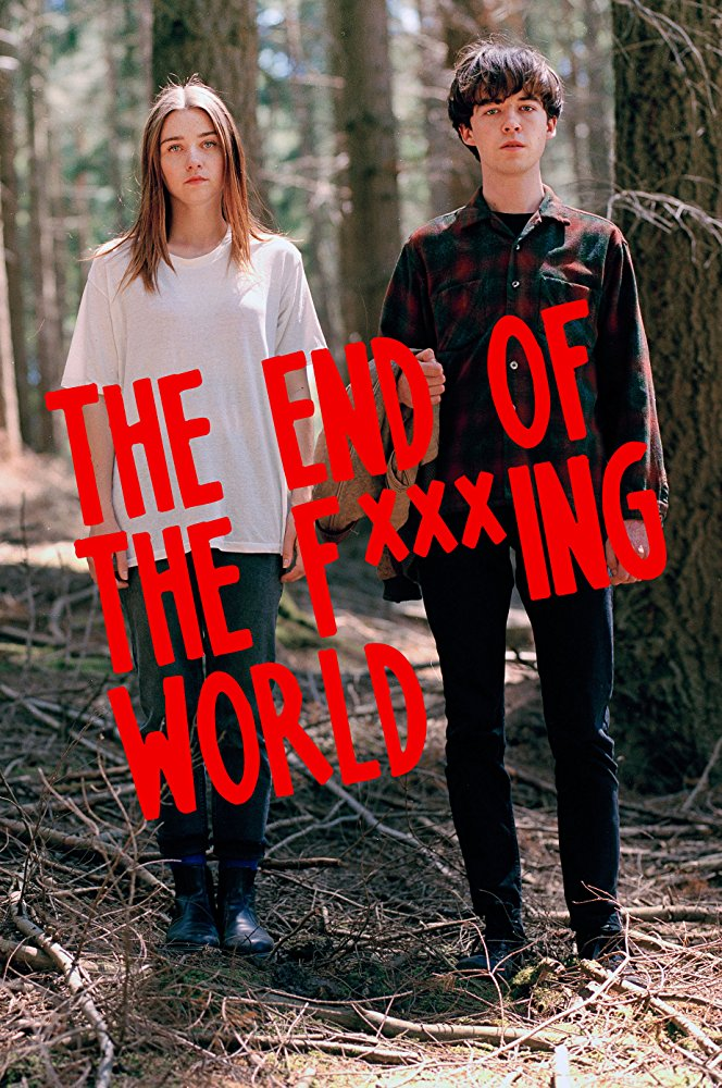 "Above: Jessica Barden and Alex Lawther in the promotional poster for ""The End of the F***ing World"".  Photo Courtesy: mcsun.org"