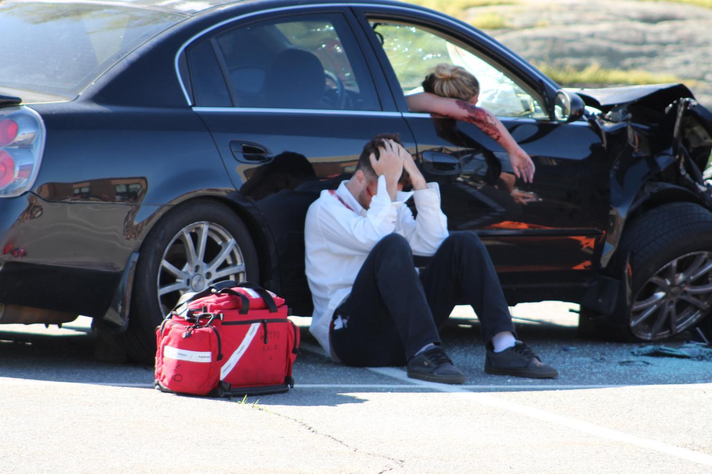 Brandon Licursi devastated at scene.
