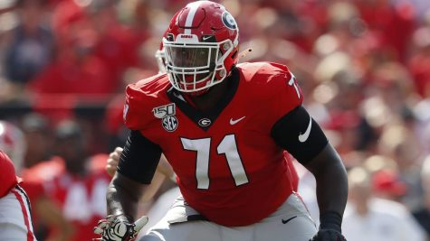 Giants first round pick Andrew Thomas during his playing days at Georgia.